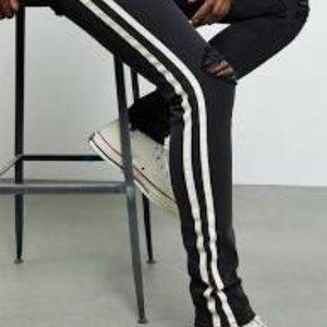 PacSun Black side stripe ripped Mens Jeans  32